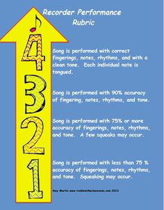 Free Download of Performance Assessment Rubrics for the Music Classroom