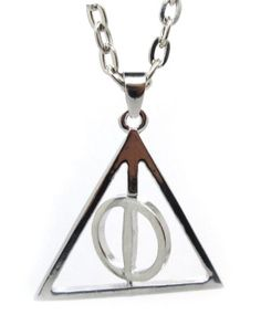 Pure Silver Harry Potter Deathly Hallows Necklace - http://geekarmory.com/pure-silver-harry-potter-deathly-hallows-necklace/