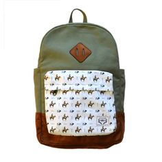 THE ROAMER BACKPACK - OLIVE/FRONTIER PATTERN – This Little Piggy Shop
