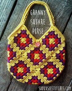 28 ideas crochet granny square purse pattern totes for 2019 – Crochet Bag İdeas. Crochet Purse Patterns, Crochet Tote, Tote Pattern, Crochet Handbags, Crochet Purses, Bead Crochet, Crochet Crafts, Free Crochet, Ravelry Crochet