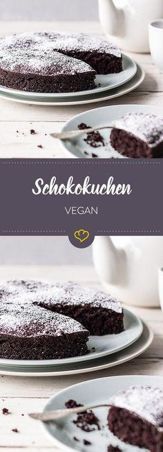 Ein veganer Schokoladenkuchen, bei dem das schlechte Gewissen eine Pause macht. Der ist schnell gemacht und einfach lecker.