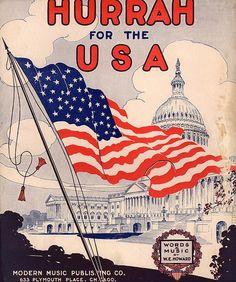 vintage posters american flag Americana