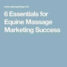 6 Essentials for Equine Massage Marketing Success
