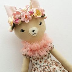This sweet fawn has been patiently waiting for her dress for about two weeks. She is glad she waited. #clothdolls #dollmaker #handmadedoll #handmade #fabricdoll #textiledolls #heirloomdolls #collectordolls #ooakdolls #ooakclothdoll #handmadetoys #nurserydoll #floral #handembroidery #sewing #dolls #dollsclothes #dollmakers #dollmakersofinstagram #shopsmall #madewithlove #madeinaustralia #deerdarlingdolls