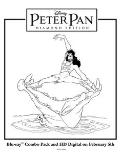 captain hook tick tock croc coloring pagejpg - Peter Pan Crocodile Coloring Page
