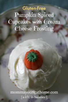 GF Pumpkin Spiced Cupcakes with Cream Cheese Frosting