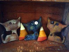 Primitive cats by StrictlyPrimitive on Etsy