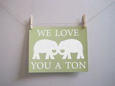 Kids Wall Art - Nursery Art, Elephant Baby Art Modern Art Nursery, 8x10 Print, Green, Sage, Elephant, Spring - Etsy