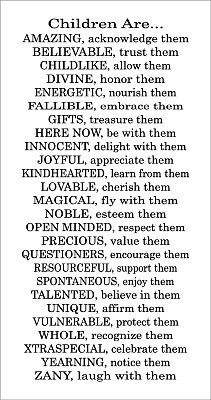 Children from A-Z. Take the time to read, then take heed. Please and Thank You.