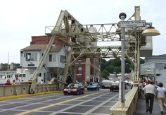most recognizable landmark in Mystic is the draw bridge over the Mystic River, Conn.