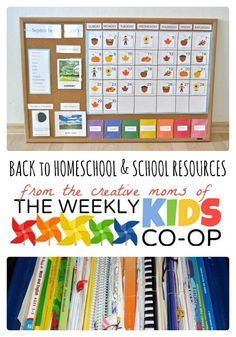 Back to Homeschool and School Resources from The Weekly Kids Co-Op - B-Inspired Mama