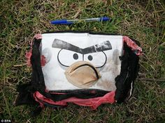 This Angry Birds bag is believed to belong to one of more than 200 passengers who went missing on the MH370 in March 2014