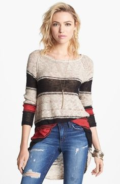 I discovered this Free People 'Block of Stripes' Pullover | Nordstrom on Keep. View it now.