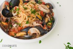 Seafood Pasta with Mussels and Calamari | Weeknight Meal #recipe via @CookSmarts
