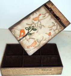 Caixa Em Scrap Decor - Passáros | Duduxa Presentes Artesanais - Del Moretzsohn | Elo7