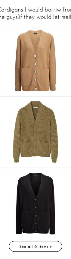 """""""Cardigans I would borriw from the guys(if they would let me!!!)"""" by shycoygirl65 on Polyvore featuring men's fashion, men's clothing, men's sweaters, camel, mens sweaters, mens cardigan sweaters, mens wool cardigan sweaters, mens wool sweaters, mens cable sweater and mens cable knit sweater"""
