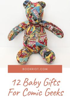 The perfect gifts for budding comic lovers.   bookish gifts   comic gifts   baby gifts   comics gifts for babies