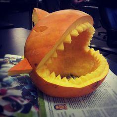Birthday pumpkin shark! | Flickr - Photo Sharing!