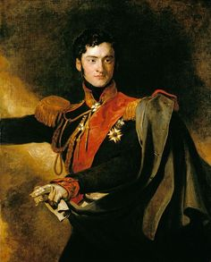 Alexandr Chernyshov by T.Lawrence (1818,Royal coll.).This portrait was commissioned by George IV at a cost of 300 guineas and was painted when the sitter was attending the Congress of Vienna in 1818,though it remained in Lawrence's studio until his death. The portrait seems to have always been intended for what became the 'Waterloo Chamber'and celebrates the sitter's role as soldier and diplomat,attending the Tzar at the Congresses of Aix-la-Chapelle and Vienna.