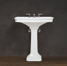$329 / $379 small/large Park Pedestal Sink from restoration hardware