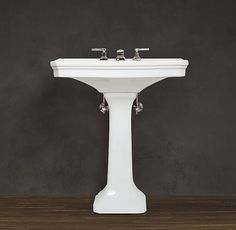 $329 / $379 small/large Park Pedestal Sink from restoration hardware