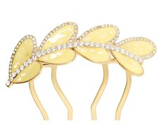 Decorative Hair Comb - combc0048 - yellow -- To view further for this item, visit the image link.
