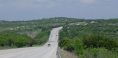 US 290 slices through the Texas Hill Country