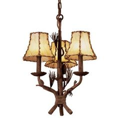 Kalco Ponderosa 5 Light Shaded Chandelier Shade Type: Green