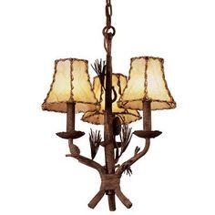Kalco Ponderosa 3 Light Shaded Chandelier Shade Type: Small Silk Bell
