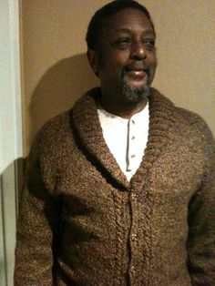 A warm and comfortable addition to your special guy's weekend wardrobe. This sweater was designed after finding this lovely soft yarn. Knitting Patterns Free, Free Pattern, Cardigan Pattern, Knit Crochet, Men Sweater, Guys, Sweaters, Clothes, Warm