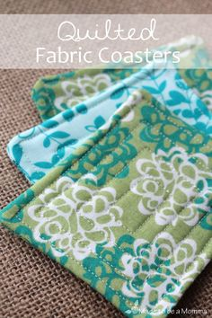 #DIY #craft tutorial >>> Quilted Fabric Coaster