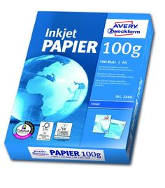 Avery Zweckform 2566A Inkjet Druckerpapier A4, 100 g/m², 500 Blatt, satiniert…