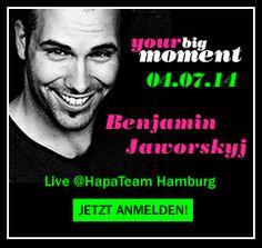 """Benjamin Jaworskyj live bei HapaTeam am 4.7.14 in Hamburg! Der Vortrag ist """"kostenlos"""" und die Teilnahme ist nur mit Voranmeldung möglich! Jetzt anmelden unter workshop@hapa-team.de und einen der begehrten kostenlosen Plätze sichern !!!  http://www.hapa-team.de/NEWS/your-big-moment-mit-Benjamin-Jaworskyj-04-07-14-bei-HapaTeam-in-Hamburg::7170.html  #hapateam #yourbigmoment #fotografie"""