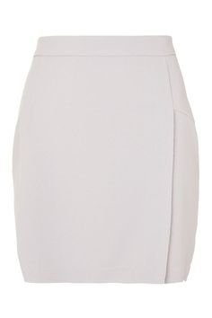 Raw Edge Wrap Mini Skirt