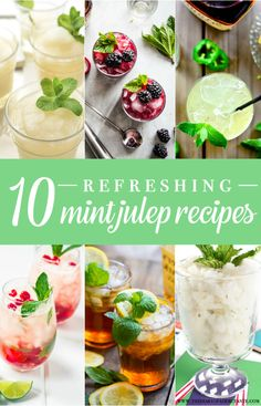 Refreshing Mint Julep Recipes, Mint Julep Recipes, Derby Day Cocktails, Derby Day, Stephanie Ziajka, Diary of a Debutante