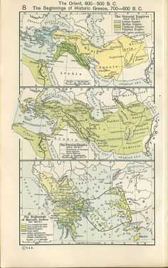 the oriental empire about 600 BC #history #maps
