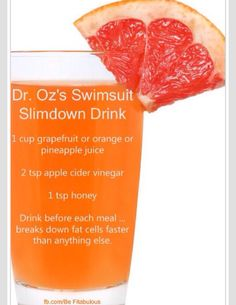 Dr. Oz slim down drink