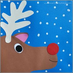 I HEART CRAFTY THINGS: Rudolph Paper Craft for Kids