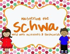 Schwa Sound Practice Activities and Flashcards