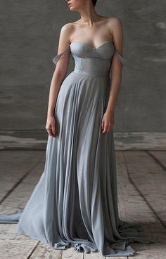 Stunning grey bridesmaid dress