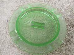 shopgoodwill.com: Vintage Unmarked Vaseline Glass Ashtray