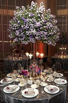 Lovely ~ finally, a centerpiece that makes a statement and you can see the person across the table from you!