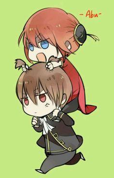 : Silver Soul Arc 2 - Second Season of the final arc of Gintama. Okikagu Doujinshi, Gintama Funny, Manga Anime, Anime Art, Cute Anime Couples, Anime Ships, Art Sketchbook, Anime Love, Kawaii Anime