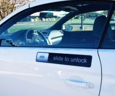 """Whether you have an iPhone or an Android phone, you will be all too familiar with the """"Slide To Unlock"""" feature of your phone. With both these phones Best Gag Gifts, Gag Gifts For Men, Car Magnets, Practical Gifts, Novelty Gifts, Car Accessories, The Ordinary, Funny, Hilarious Stuff"""