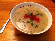 Potato & Chive soup. Vegan, gluten free