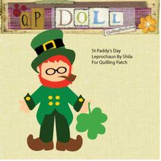 St. Patrick's Day Leprechaun Free Paper Doll Cutting File for Scrapbooking, Cards and Paper Crafts @ quillingpatch.com Z Cards, Felt Stories, Woodland Fairy, Dress Up Dolls, St Paddys Day, St Pattys, Leprechaun, Spring Crafts, Svg Files For Cricut
