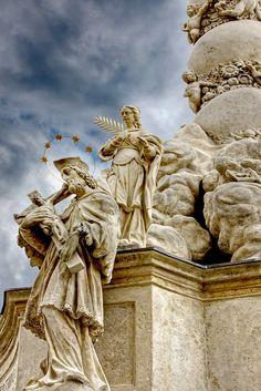 Part of the Sopron Plague Column 3 - Sopron, Vas Danube River, Vatican City, European Countries, Medieval Castle, Central Europe, Bosnia And Herzegovina, Macedonia, Romania, Budapest