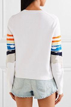 rag & bone - Nicki Stretch-cotton Intarsia Sweater - White -