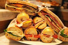 Sandwichs preparados con pan orgánico