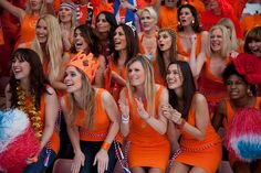 The world famous Dutch Bavaria girls during the World Cup in 2010. soccer a beautiful game wondersoccertowel@gmail.com